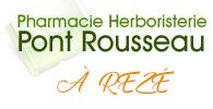 Logo Pharmacie Pont Rousseau Reze Nantes Vertou Herboristerie